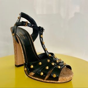 Gucci Jacquelyne Black Patent Leather US 6.5 NEW